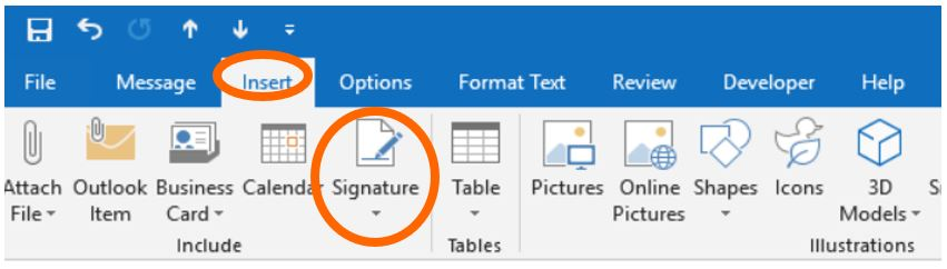 How to change the size of a signature image in Outlook 2016